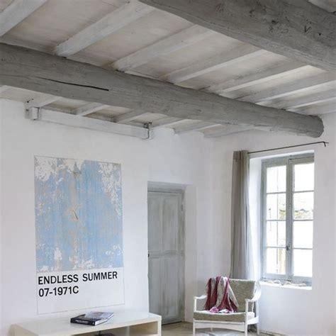 Amenager Chambre Bebe Peindre Cuisine Chene En Blanc Repeindre Un Plafond Avec Poutres En Bois Apparentes