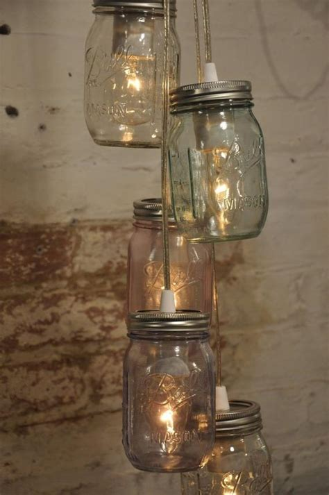 Jar Pendant Chandelier by 5 Jar Chandelier Light With A Hint Of Color Pendant