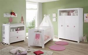 Babybett Komplett Mit Wickelkommode : babyzimmer m bel komplett set weiss und rosa real ~ Watch28wear.com Haus und Dekorationen