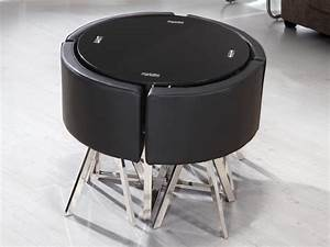Set Table Rond : space saver dining set to create accessible dining space homesfeed ~ Teatrodelosmanantiales.com Idées de Décoration