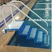 portable pool steps ada compliant handicap swimming pool access ladders and steps
