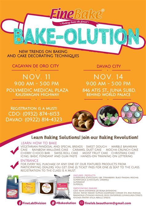 FineLab offers baking workshops in Davao and Cagayan de Oro