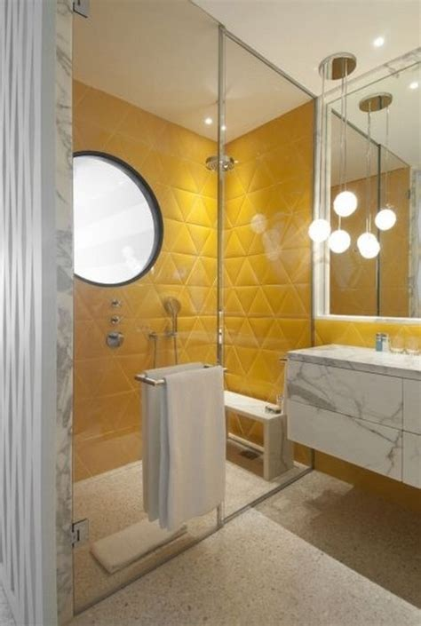 bathrooms  yellow accents messagenote