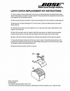 Bose Latch Catch Replacement Kit Instructions  Service