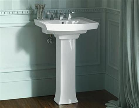 how to attach a pedestal sink to the wall pedestal sinks buying and installing a bathroom pedestal sink