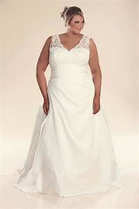 Plus size wedding dress with straps jenny bridal gowns for Wedding dress sizing
