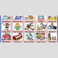 Daily Routines  Vocabulary Home