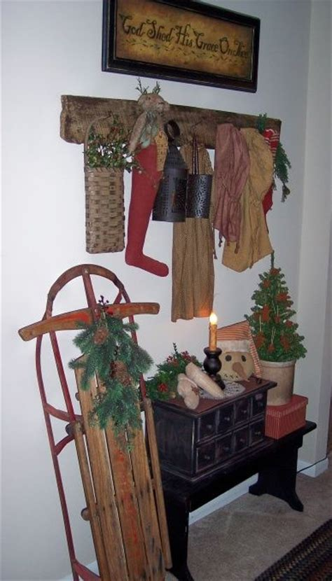 primitive christmas decorating ideas pin by sharon cbell on primitive decorating ideas pinterest