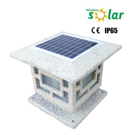 solar powered solar gate light solar gate post pillar