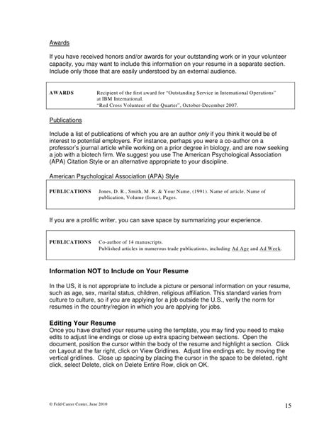 published work on resume writing mba resumes