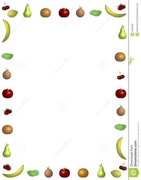 fruit border stock illustration illustration