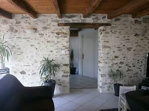 Mur Pierre Apparente : cuisine cuisine mur brique blanc chaios deco mur pierre ~ Premium-room.com Idées de Décoration