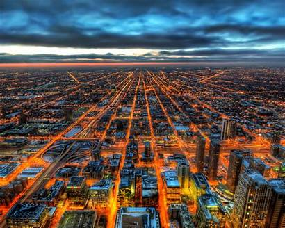 Hdr Chicago 4k Wallpapers Resolution 1440p Night