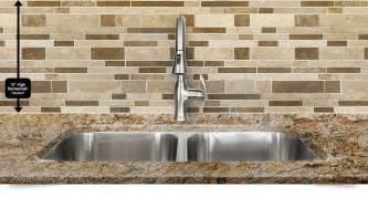 colored glass backsplash kitchen travertine subway mix backsplash tile