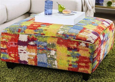 multi colored ottoman pollock multi color upholstered ottoman sm8230 ot