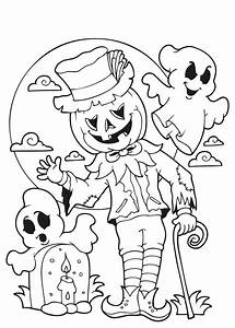 Dessin Facile Halloween : 34 spannende halloween kleurplaten o a heksen en spoken ~ Melissatoandfro.com Idées de Décoration