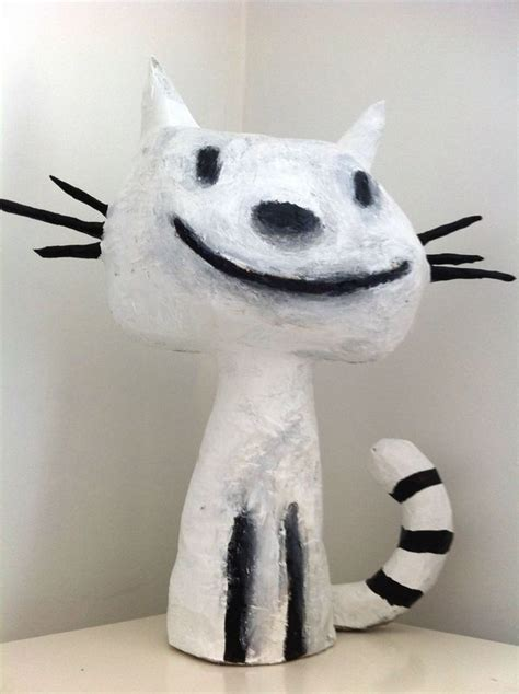 chat en papier mache suite bricolage pinterest