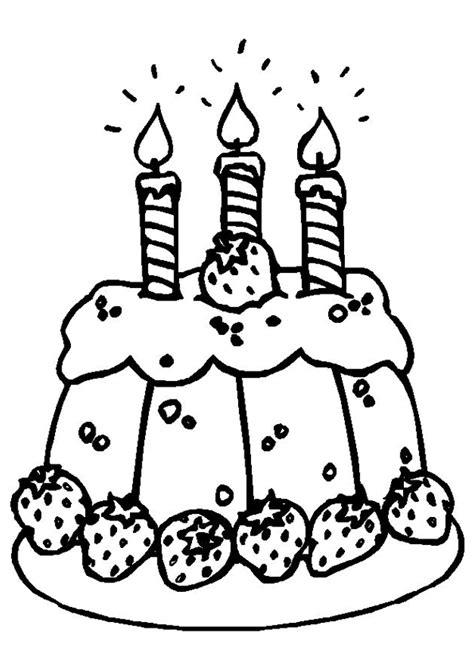 jeux de cuisine aux fraises coloriage gâteau d anniversaire et bougies hugolescargot com