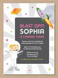 Astronaut Birthday Invitations Printable - Pics about space