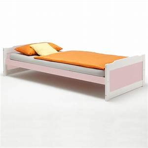 Bett 90x200 Weiß Massiv : einzelbett kinderbett holzbett bett 90x200 cm kiefer massiv weiss rosa ebay ~ Bigdaddyawards.com Haus und Dekorationen