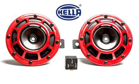 Subispeed Hella Supertone Horn Kit With Bracket Wiring