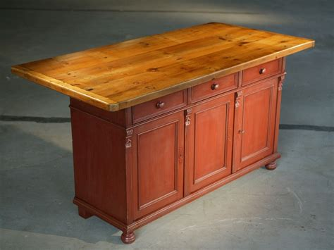 custom kitchen island table custom made european sideboard in barn red with 6ft table