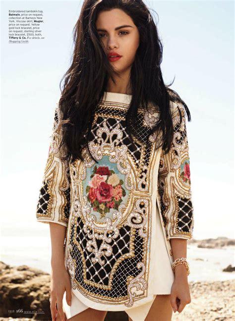Selena Gomez In Dolce & Gabbana For American Elle