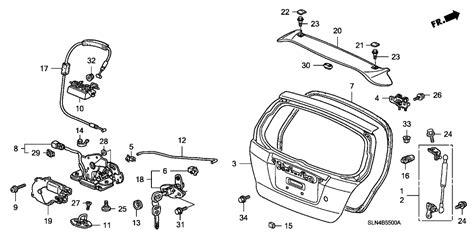 Honda Fit Diagram by 74801 Saa E21 Genuine Honda Lock Tailgate