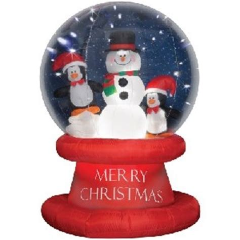 christmas inflatable snow globes stones finds
