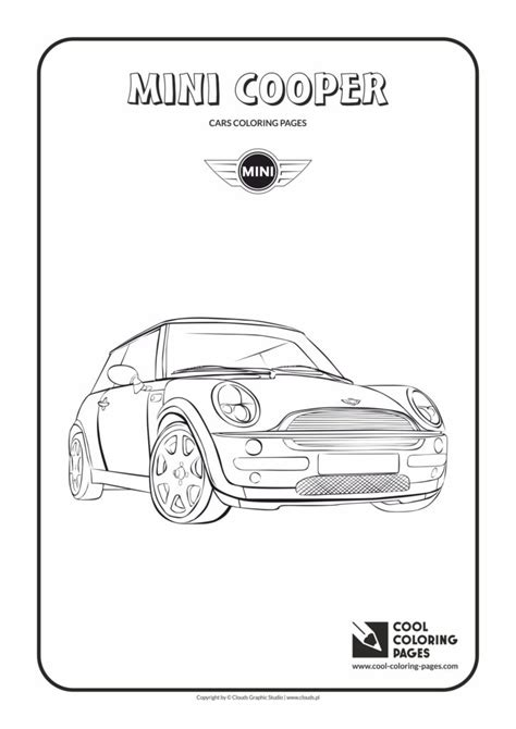 cool coloring pages mini cooper coloring page cool coloring pages  educational coloring