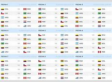 Fixture Eliminatorias Sudamericanas hacia Rusia 2018