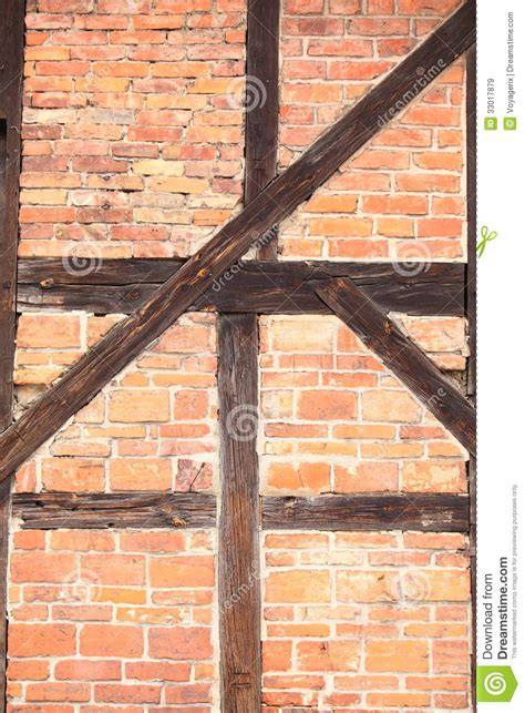 background  beams  bricks exterior building stock