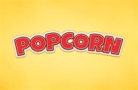 popcorn text effect graphicburger