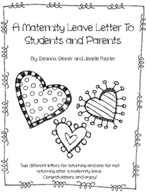 editable maternity leave letter  dancing   teacher