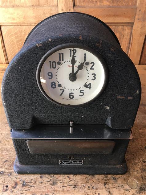 Vintage Simplex Punch Clock Time Clock, WORKS, Simplex ...