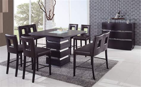 modern counter height table wenge contemporary counter height bar table prime classic