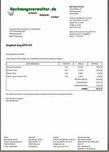 Rechnung Höher Als Angebot : mit rechnungsverwalter erzeugte dokumente ~ Themetempest.com Abrechnung