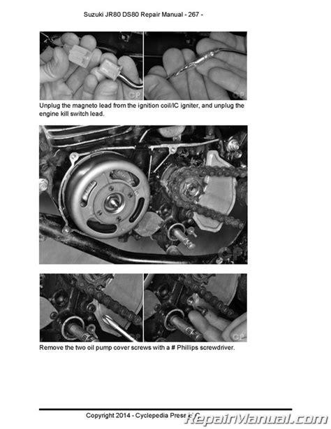 Suzuki Ds80 Specs by Suzuki Ds80 Jr80 Motorcycle Cyclepedia Printed Service Manual