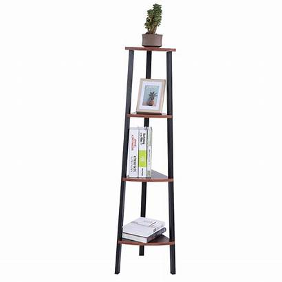 Corner Shelf Tier Rack Ladder Angle Bookcase
