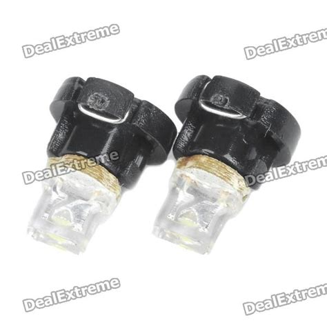 t3 0 05w 1 led car instrument white light bulb pair