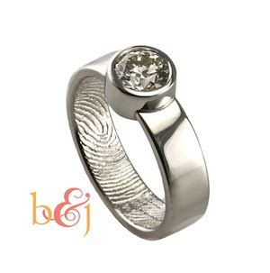 new wedding ring styles from brent jess the geniuses behind the fingerprint rings offbeatbride