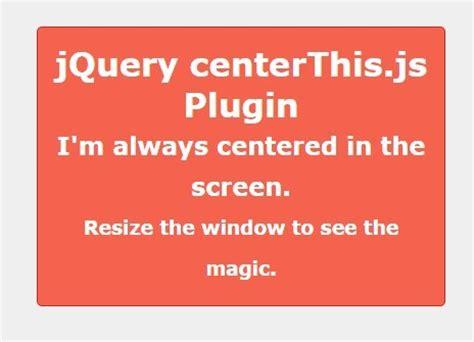 Centering Responsive Element With Jquery Centerthisjs