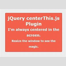 Centering Responsive Element With Jquery Centerthisjs