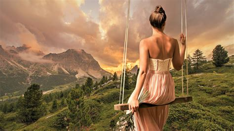 beautiful girl landscape  wallpapers hd wallpapers