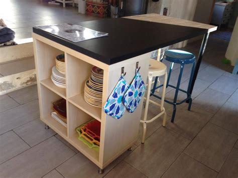 table de cuisine avec tiroir ikea un nouvel îlot de cuisine avec kallax bidouilles ikea