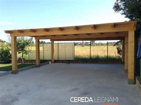 box auto garage carport e box auto in legno cereda legnami