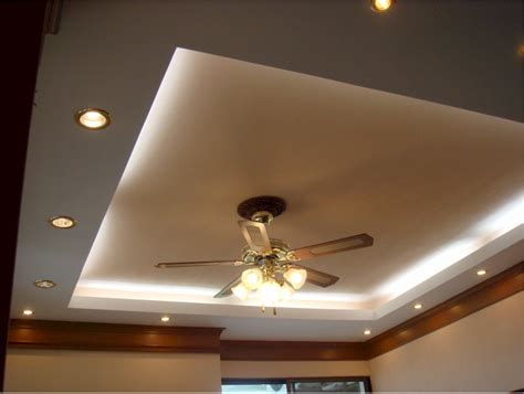 bedroom cove lighting with recessed lighting setup and