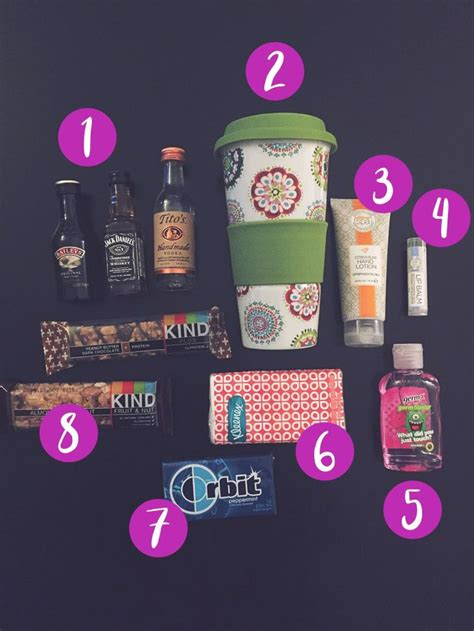 items  travel goodie bags girls trip