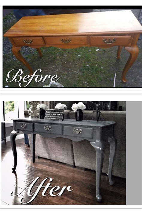 run  sofa table refinished   mod