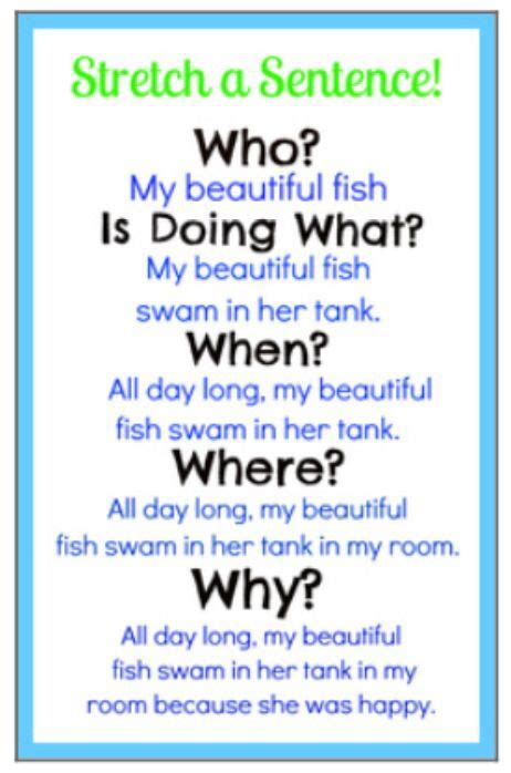 Constructing a sentence. The 5Ws of writing. Who, what ...